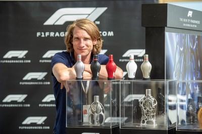F1® Fragrances ambassador Freddie Hunt presenting the F1 Race Collection @ the F1 Paddock Club™ in Silverstone during the Formula 1® Pirelli British Grand Prix / © Getty Images Antony Jones.