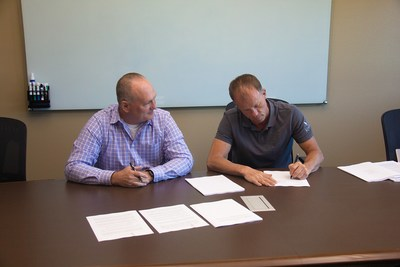 Grant Flaharty, CEO of Snake River Holdings on the left. Brek Pilling, CEO of Kodiak America on the right.